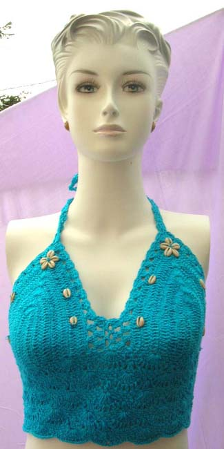 Fantasy clothing shop imports quality seashell fashion tankini with handcrafted crochet embroidery from online gallery