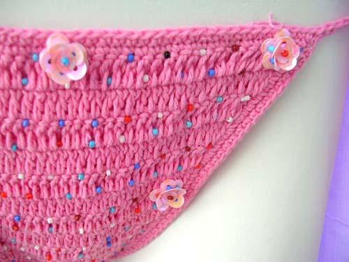 Knitting Factory Bali : Sexy pink needle knit art designed string bikini with
