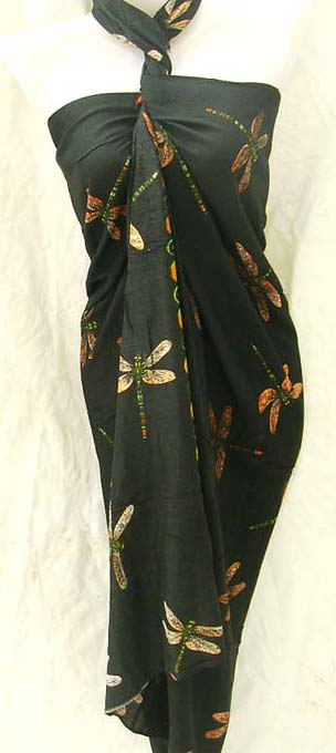 Dragonfly lovers, batik summer coverup gallery from island wear manufacturing warehouse shop