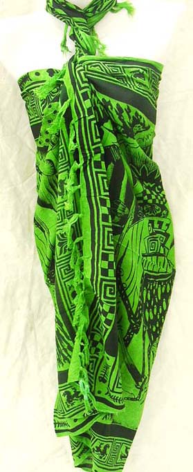 Indonesian export supplier wholesales tropical sarongs, deep sea design on hot fashion wrap