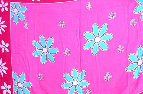 Garden wear supply factory outelet catalof sells flower pattern  spring fashion sarong