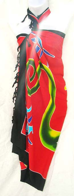 Designer sarong supplier imports fashon teen wrap in colorful gecko print