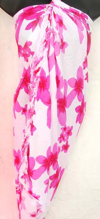 Urban beach wear wholesaler exports sexy sarongs, floral designed beach wear wrap around