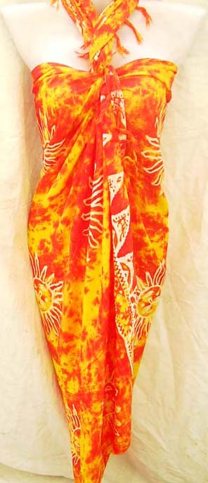Handmade batik sarong with print pattern design, beautiful clothing collection exchange company