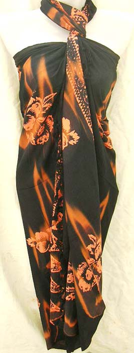 Caribbean clothing supply company wholesale indonesian Art wear summer sarong in floral print