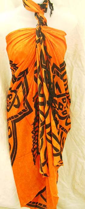 Beach active wear retail shopping gallery distributes indonesia direct Celtic tribal art designed batik shawl sarong