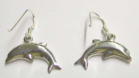 Ocean lover design earring wholoesale - Fashion sterling silver fish hook earring with dolphin shaped design