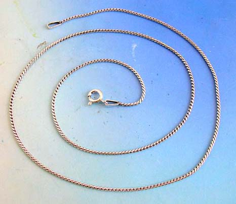 925.Sterling silver Bali style necklace with spring ring clasp