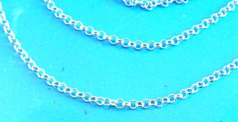 Sterling silver rope chain with spring ring clasp
