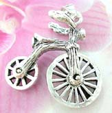 Wheel movable bicycle  Thailand made solid sterling silver charm pendant