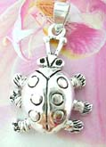 Legs and head movable turtle  Thailand made solid sterling silver charm pendant