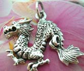 Oriental dragon pendant made of 925. sterling silver