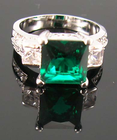 Holiday fashion jewelry shopping for cubic zirconia ring wholesale supply dark green cz ring combine with multi clear cz