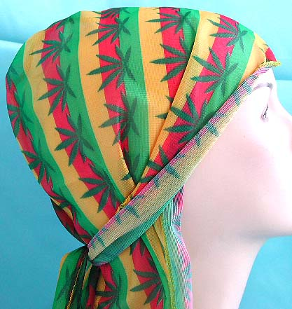 Beautiful scarf design for head covering wholesale supplier - wrinkle free hawaii pattern polyester fashion durag with long tie