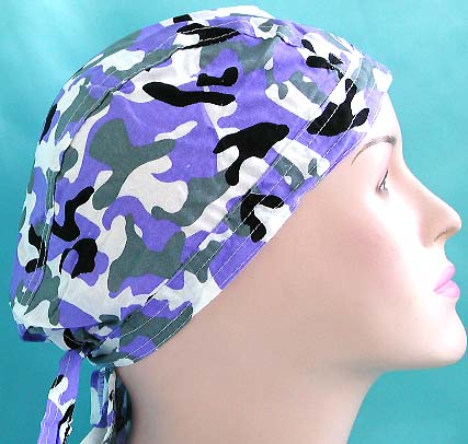 Seasonal army head wrap dandana wholesaler supply blue navy fashion cotton skullcap with tie