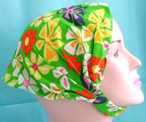 Seasonal beautiful lady headwraps for teens wholesale head scarf with stretchable end in multi color flower pattern design
