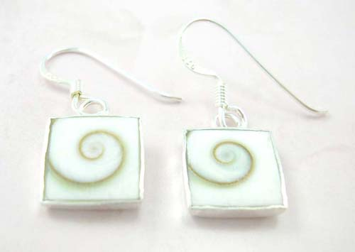 Wholesale Shiva's eye jewelry fashion on line inlay sterling silver earrings