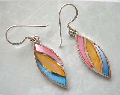 Fine mother-of-pearl jewelry wholesaler supply assorted mother of pearl silver earrings