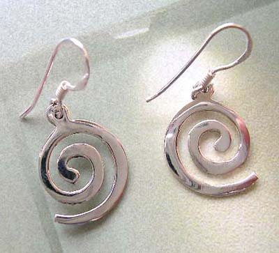 Shop for fashion geometrical jewelry design supplier, 925 stamped sterling silver spiral earrings