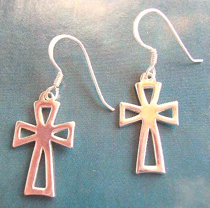 Religioius jewelry cross fashion wholesale supplier in sterling silver earrings