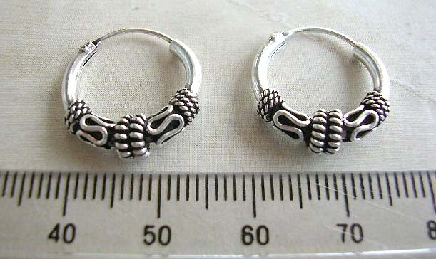 Cheapest price on Bali jewelry, 925 stamped sterling silver earrings with double mystic sign