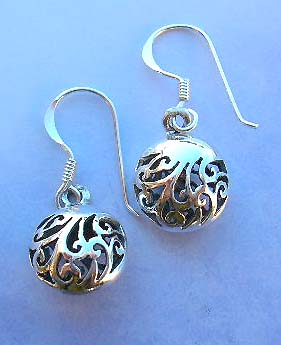 Quality filigree jewelry at wholesale price supply rounded filigree sterling silver earrings