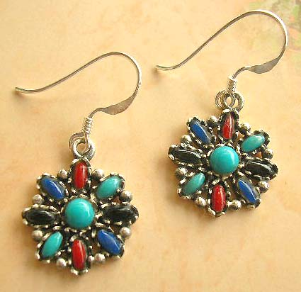 Fashion jewelry women wholesale of assorted gemstone sterling silver earrings