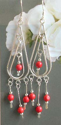 Distributor jewelry wholesale online supply silver earrings with beads dangles
