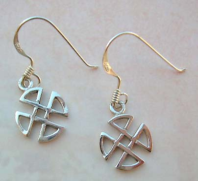 High fashion Celtic jewelry accessory, 925 stamped sterling silver earrings