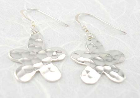 Teen fashion jewelry gift wholesale supply sterling silver earrings in flower design