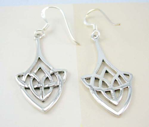 Irish fashion Celtic gift box wholesale sterling silver earrings