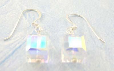 Wholesale Cz high fashion jewelry gift for teens supply sterling silver clear Cz earrings