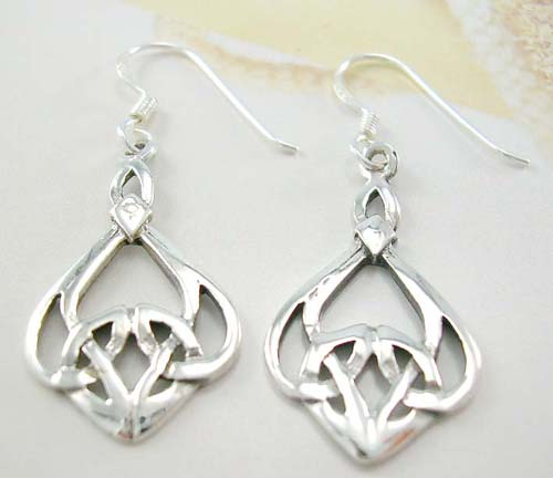 Wholesale Irish jewelry fashion supply sterling silver earrings in Celtic design