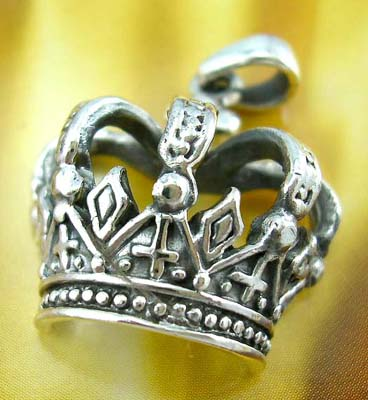 Designer jewerly crown-shpe pendant, 925 stamped sterling silver pendant in crown design