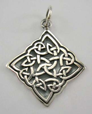 Celtic  knot work fashion design jewelry pendant made 925 stamped sterling silver Celtic knot pendant