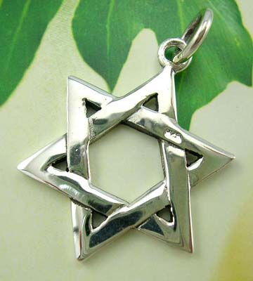 Sterling silver star-shaped pendant jewelry wholesale store made 925 stamped