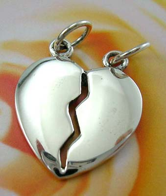 Broken heart pendant fashion jewelry design for love wholesaler sterling silver heart broken pendant