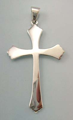 Christian cross pendant jewerly unique gift in solid sterling silver plain cross pendant
