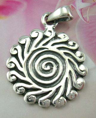 Buy jewelry pendant at wholesale price in sterling silver sun pendant