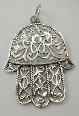 Trendy pendant accessory shop online supply sterling silver pendant with cut-out floral design