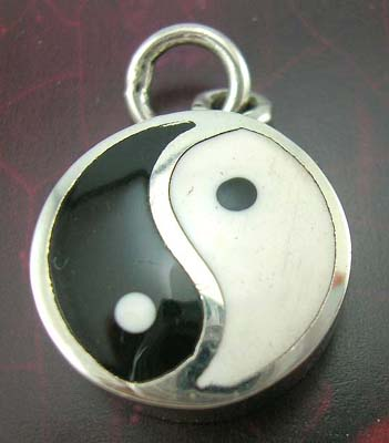 Asia Yin-Yang jewelry charm design wholesale distributor sterling silver Yin-Yang charm, 925 stamped