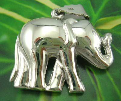 Fashion elephant pendant accessory wholesaler sterling silver elephant pendant