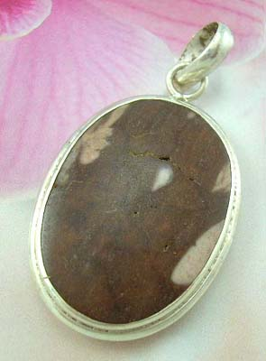 Coco wood fashion design pendant jewerly set supplier oval Coco wood sterling silver pendnat
