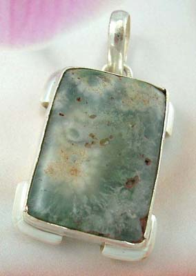 Shop for silver pendant jewelry online in rectangular genuine stone sterling silver pendant