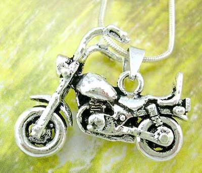 Modern jewerly trends fashion wholesale supply motocycle sterling silver pendant