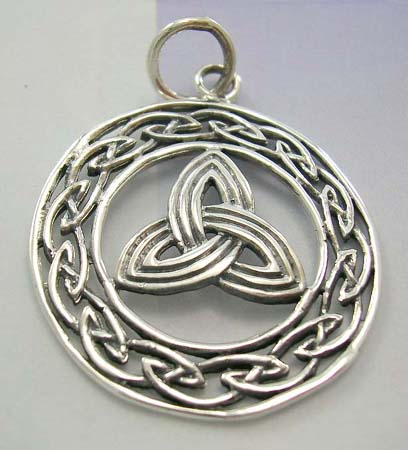 Fashion jewelry for Celtic knot lover online shopping - Celtic knot work pendant in 925 stamped sterling silver