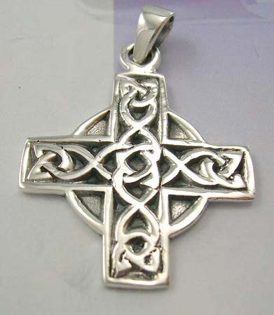 Wholesale supplier for Celtic cross jewerly fashion online - 925 sterling silver cross Celtic knot pendant