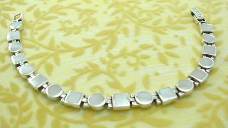 Ideal pearl fashion jewelry gift online supplier sterling silver bracelet with white mother of pearl inaly