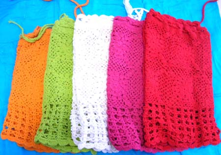 Lady's online store supplier manufacturing assortment design ladies crochet summer top