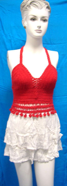 Affordable price US wholesaler supply gifts wholesale ladies fringe crochet top